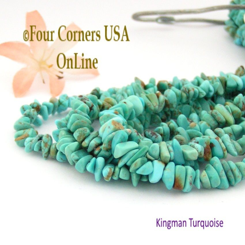 round inch blue tq usa beads online turquoise strands old kingman pin
