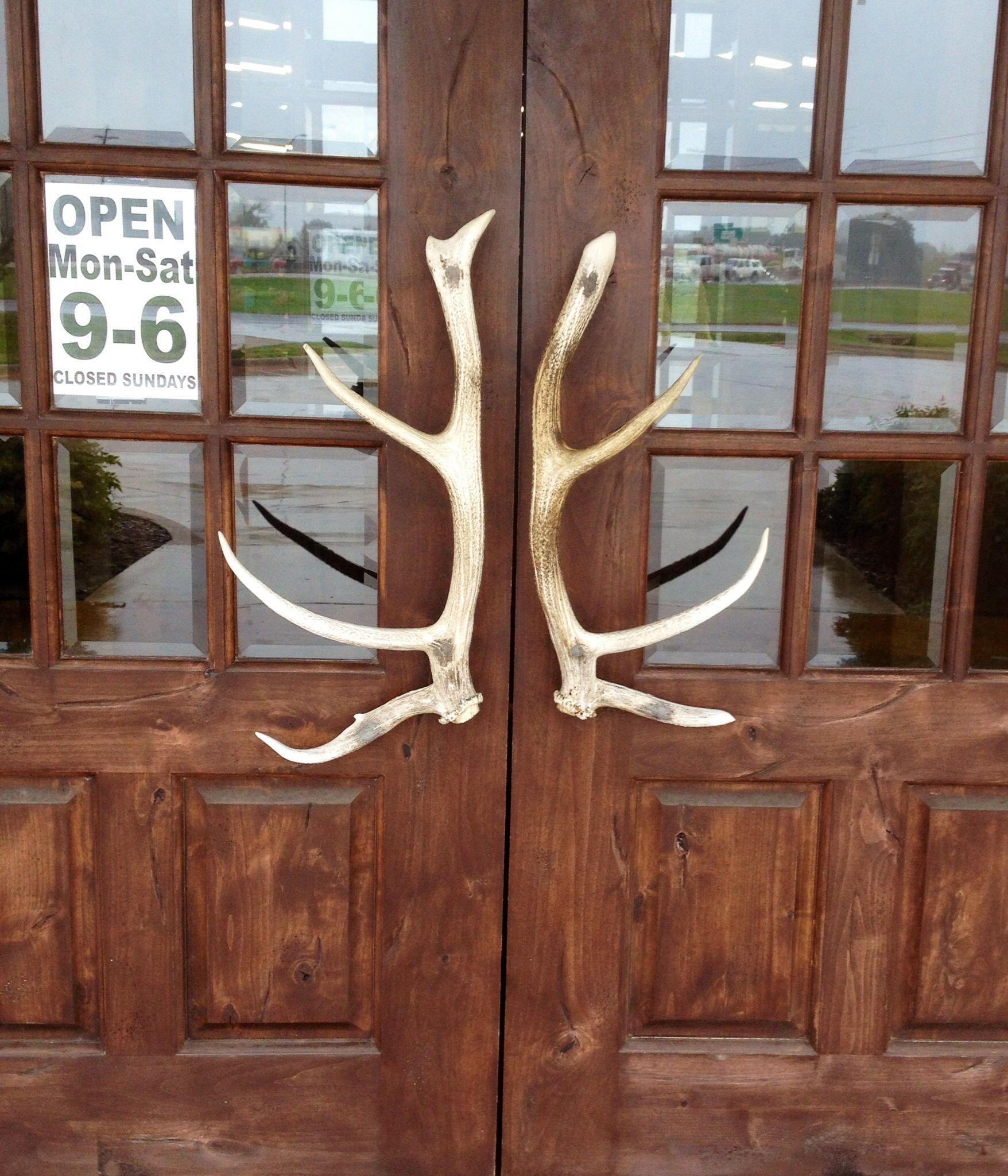Antler Door Handles! | 4G Ranch Main Home | Pinterest | Door Handles .