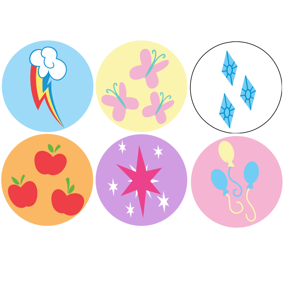 Geekbadge my little pony cutie marks 1 buttons online - My little pony cutie mark wallpaper ...