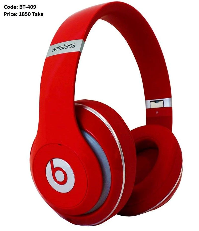 Beats By Dr Dre Studio Wireless Headphones Red Headphones