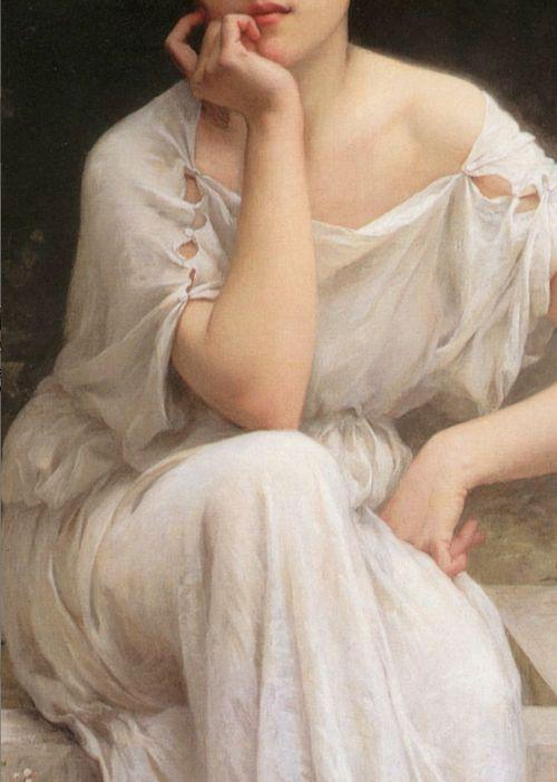 ♔ 'Méditation'  détails ~ Charles-Amable Lenoir ~ 1899