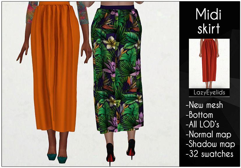 Midi Skirt [ts4_adult_bottom] [ts4_bacc_elf] (With