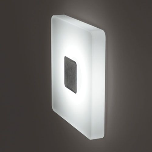 Great Ledra Ice Matte Chrome Square White LED Wall Sconce Bruck Lighting Systems  Flush To