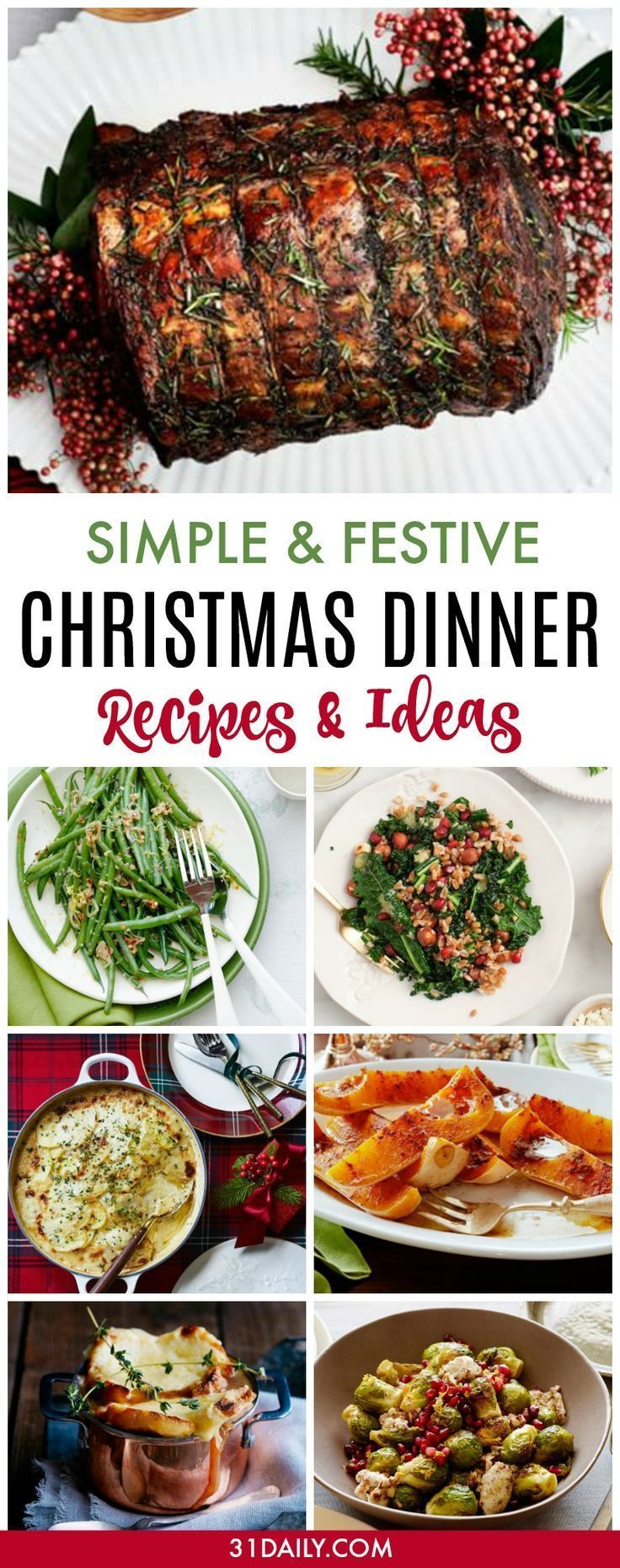 Simple and Festive Christmas Dinner Recipes - 31 Daily