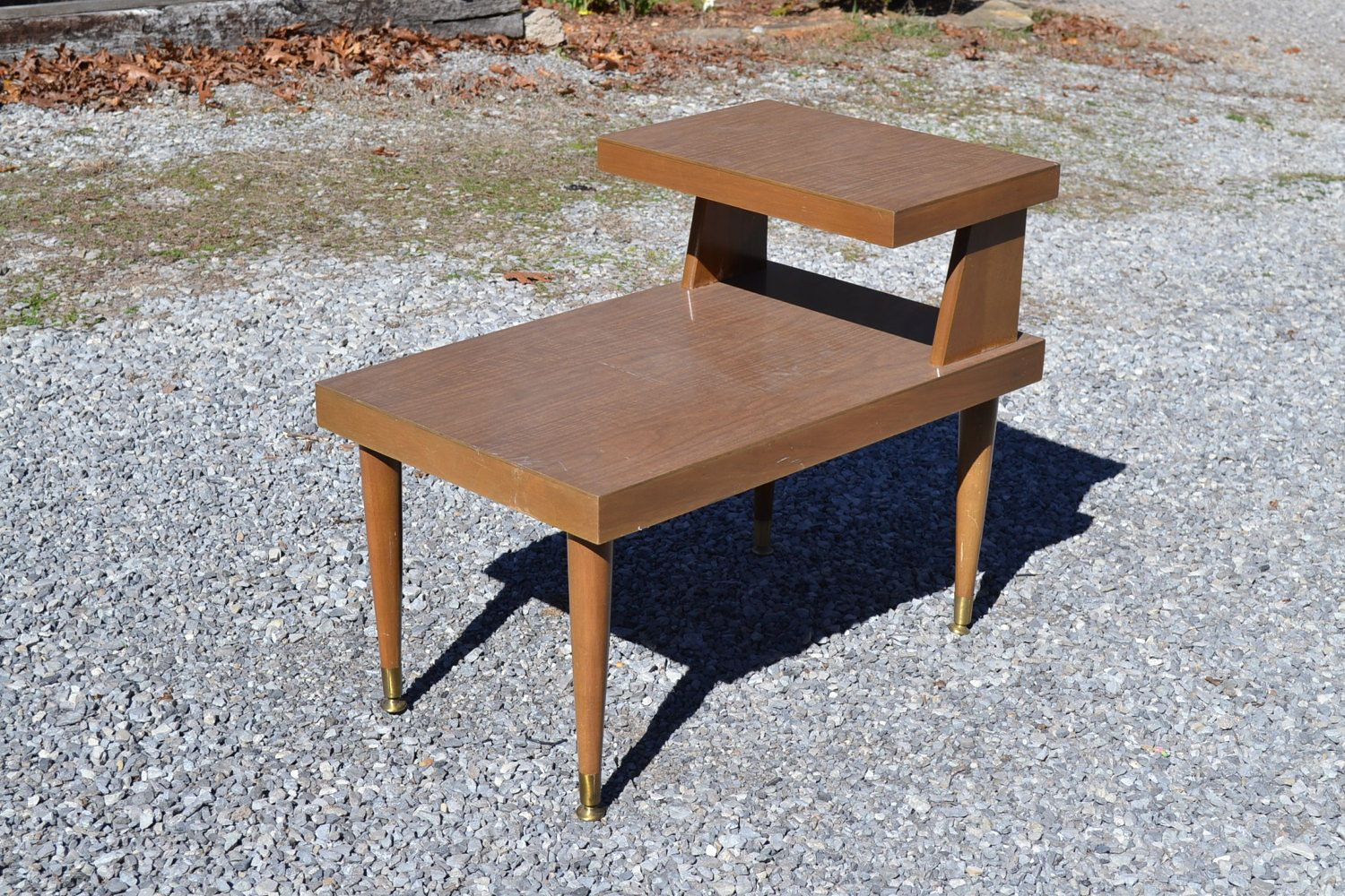 Mid Century End Table Two Tier Mersman Formica Side Table Accent Furniture Mid Century Modern Mcm Panchosporch Recycled Home Decor End Tables Side Table