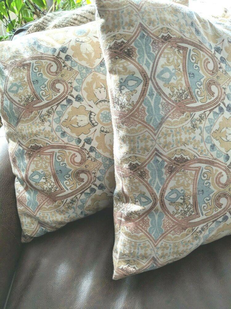pottery barn erica pillow pair 20 sq