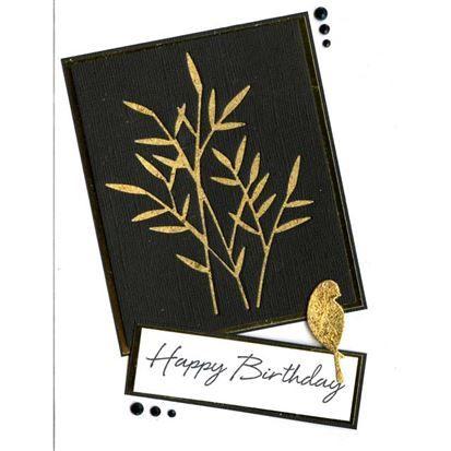 Memory Box - Bamboo Shoots  Peaceful Bird, Indigoblu Chariot of Fire Mega-flakes, Woodware double sided adhesive sheet, Hero Arts Say It All.