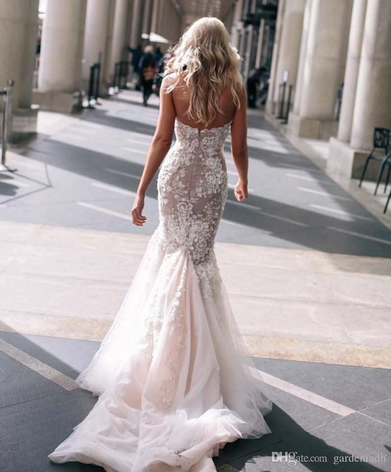 Free shipping wholesale steven khalil for White fishtail wedding dress