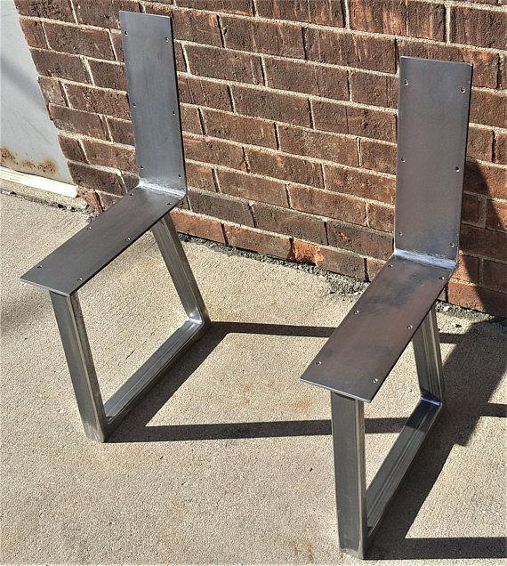 Banco De Patas De Acero Este Listado Esta Para El Juego De 2 Patas De Banco De Acero Tuberia Trapezoide Hecho De Metal Table Legs Metal Furniture Bench Legs