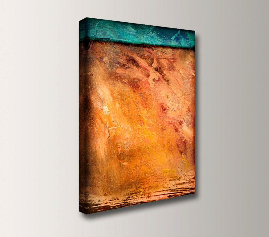 Canvas Wall Decor Toast 24x36 Teal Orange Canvas Art 150 00 Via Etsy Abstract Canvas Painting Orange Canvas Art Painting Teal and orange wall art