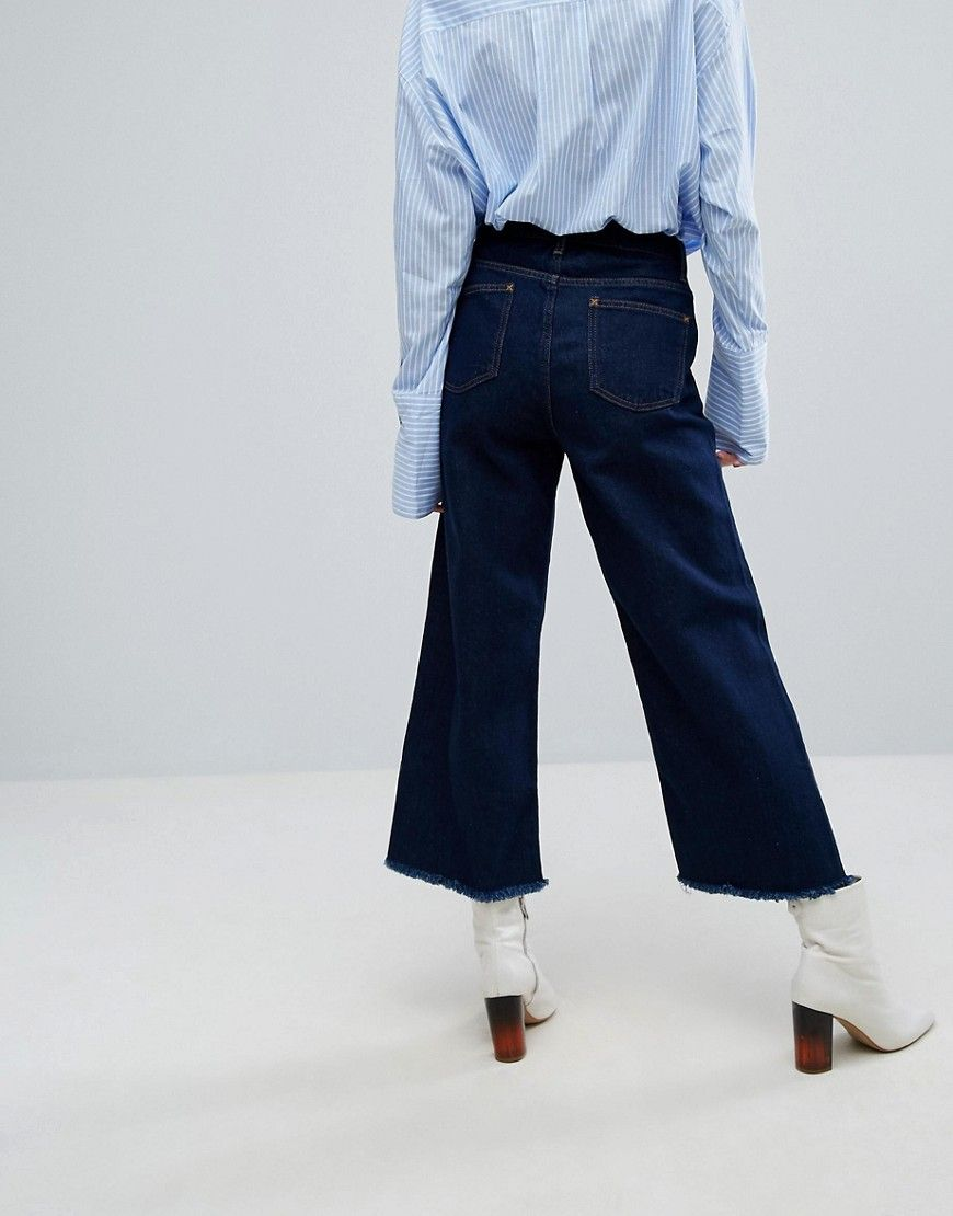 H! By Henry Holland Wide Leg Skater Jeans - Blue