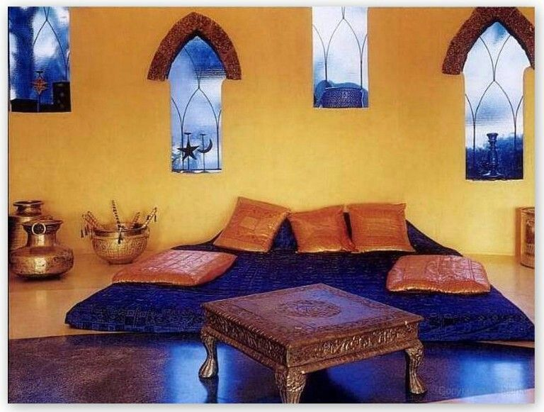 Blue And Yellow Indian Colour Combos Rajasthani Dining Sitting In