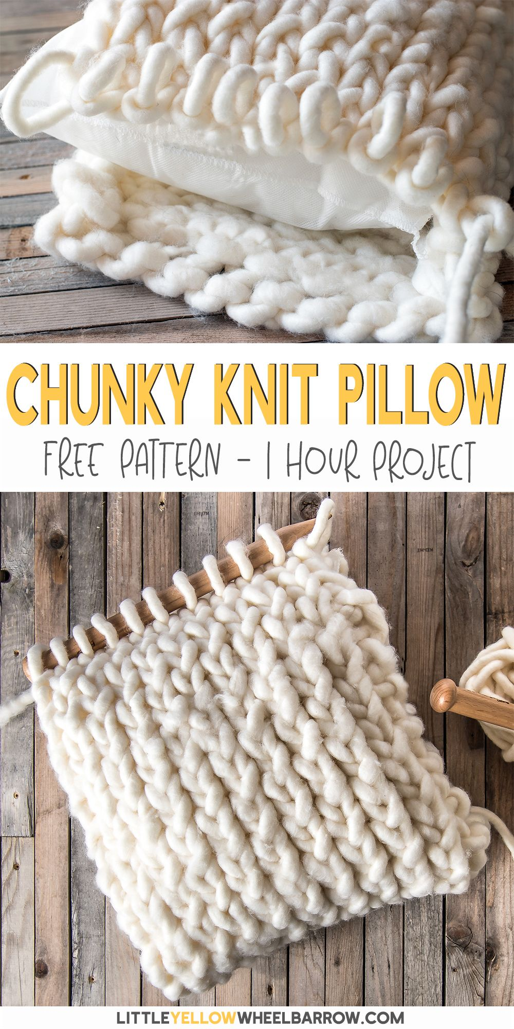 How to Make a Chunky Knit Pillow Cover in Under an Hour
