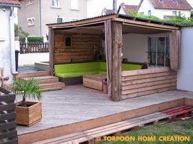 terrasse en palettes et salon d ete