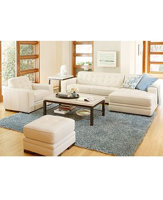 Kayla Leather Sectional Living Room Furniture Sets Pieces