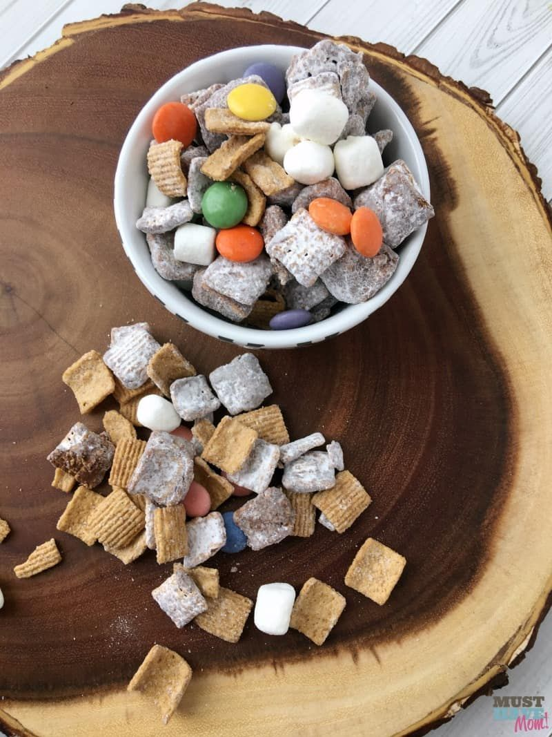 This nutella smores puppy chow is seriously better than