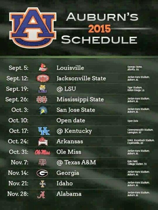 2015 Schedule | War Eagle!! | Auburn football schedule