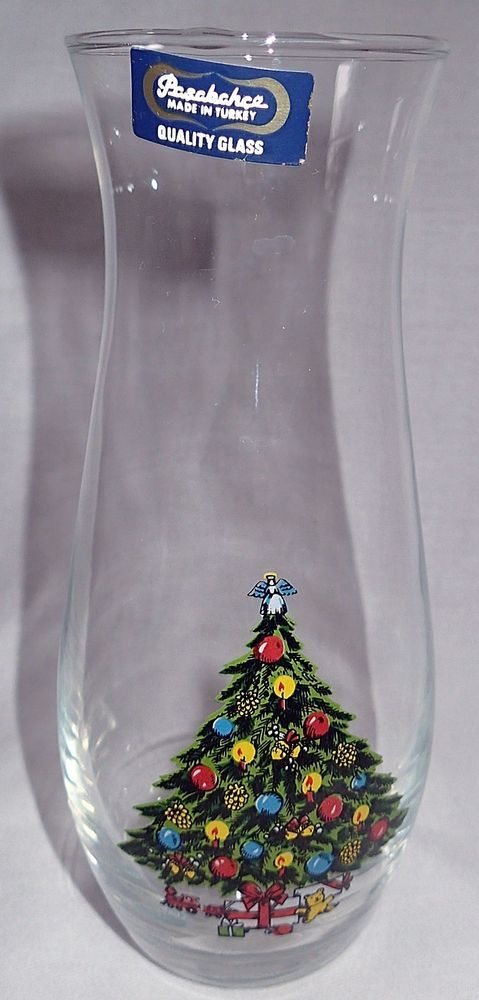 Pasabahce Clear Vase Christmas Tree Quality Glass Flower Bud Turkey