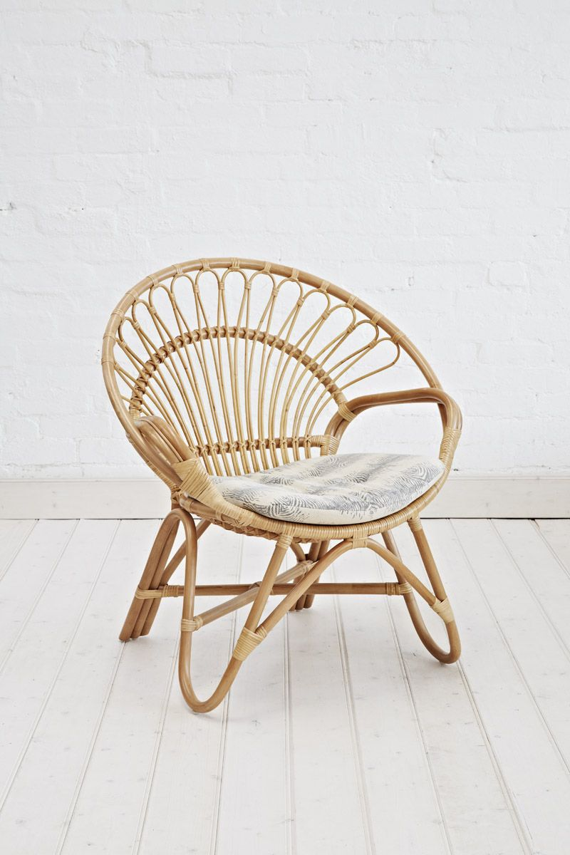 Rattan Round Chair Natural Round chair, Round wicker
