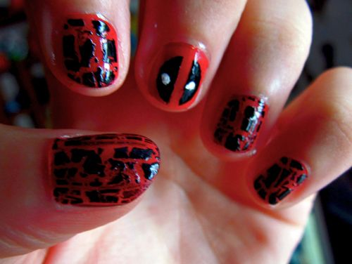 Deadpool nails by Kallian91.deviantart.com on @deviantART - Deadpool Nails By Kallian91.deviantart.com On @deviantART Beauty