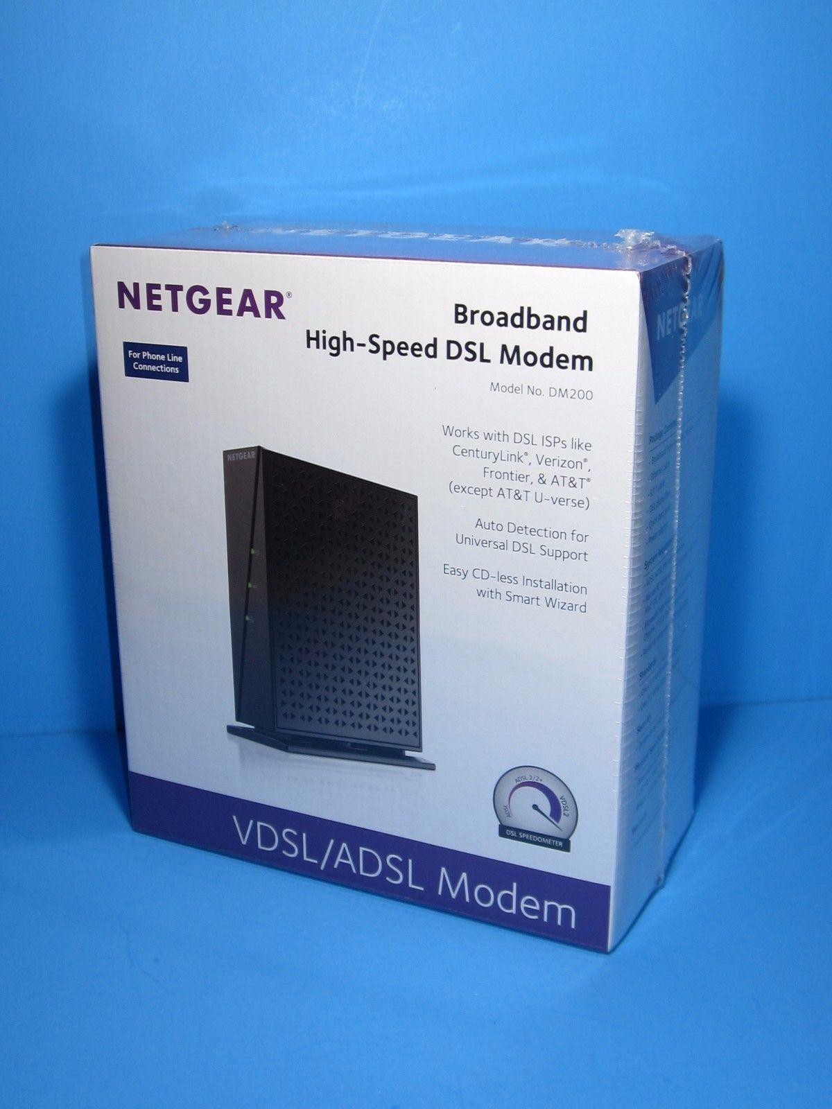 Netgear Vdsladsl Broadband Dsl Modem And Centuy Link Wiring Diagram Dm200 High Speed Vdsl Adsl Sealed