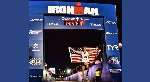 Scheck & Siress Prosthetist & Patient Melissa Stockwell completing her first ever IRONMAN!