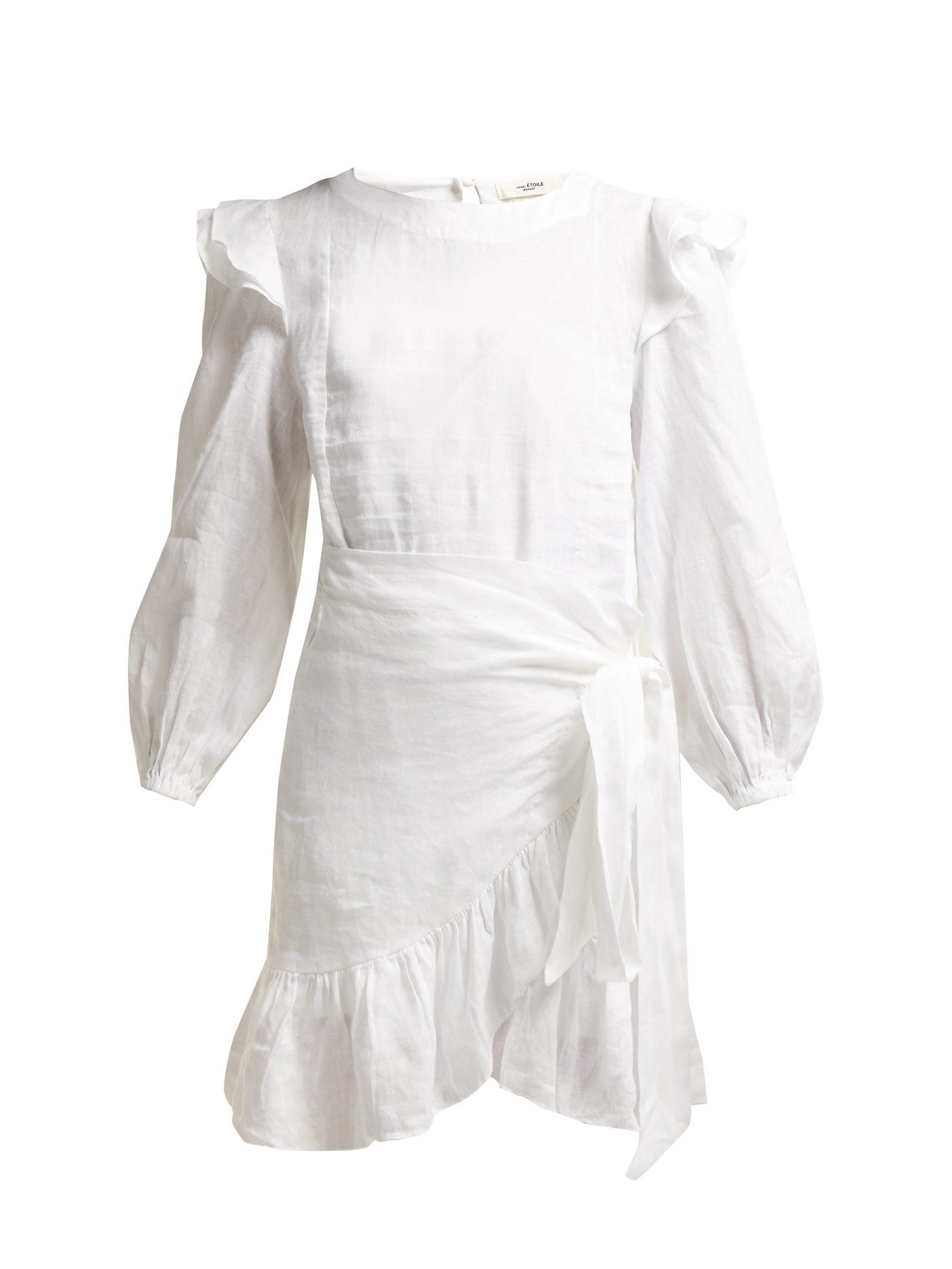 b9a6b1be994 Telicia ruffle-trim linen dress