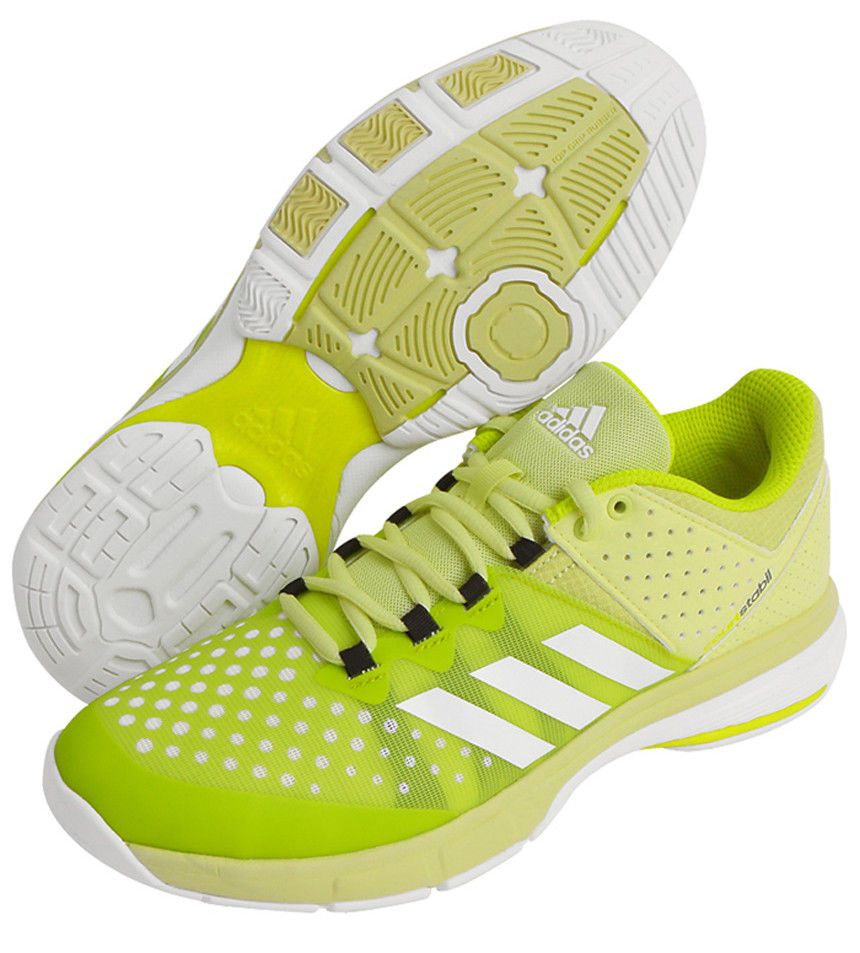 Adidas White Stabil Boost 20y Indoor Sports Trainers (shoes) for men