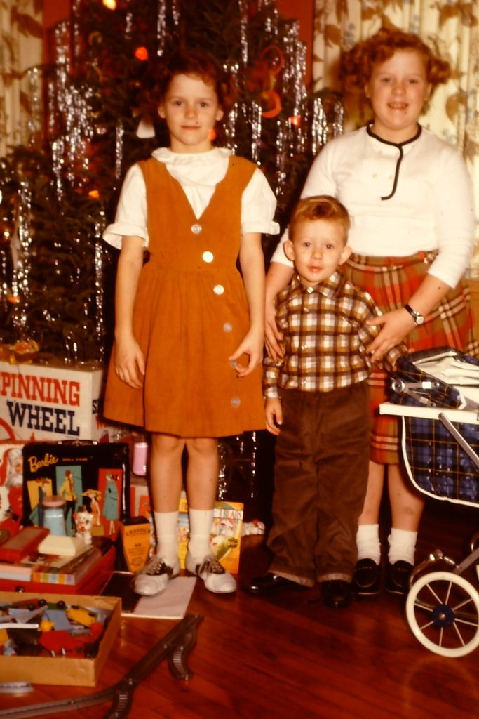 Kodachrome Christmas  ....we had a spinning wheel like that one in the back by the tree...