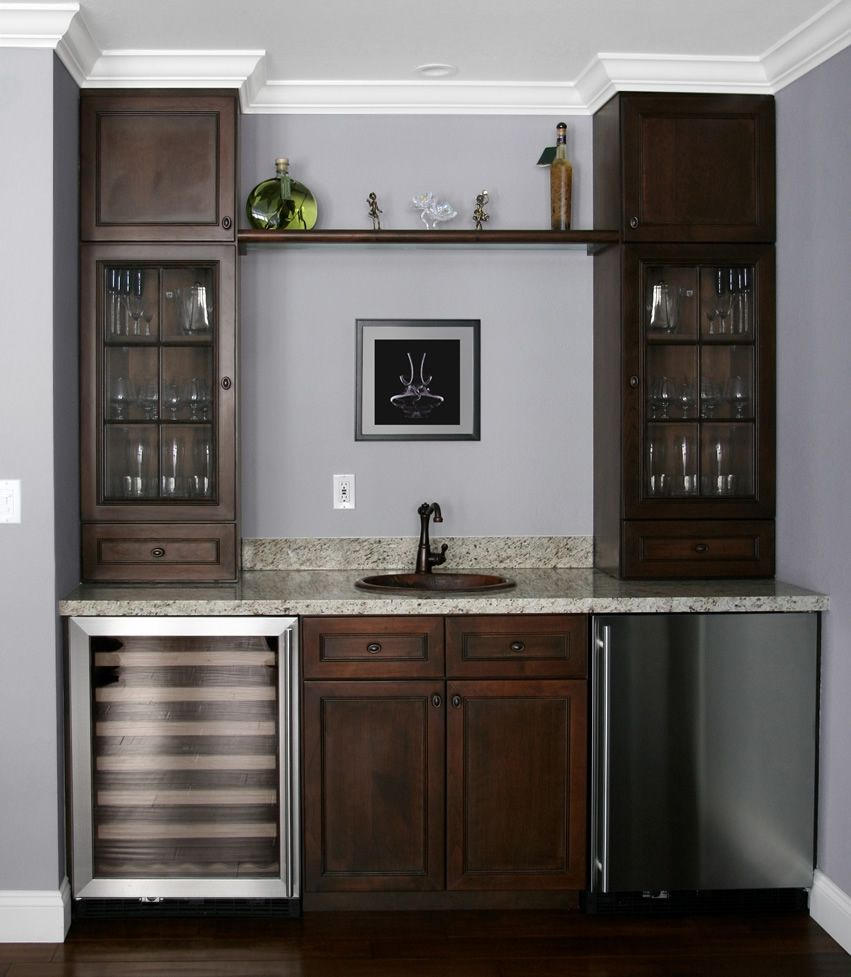 Home bar ideas 37 stylish design pictures pinterest for Built in drinks cabinet