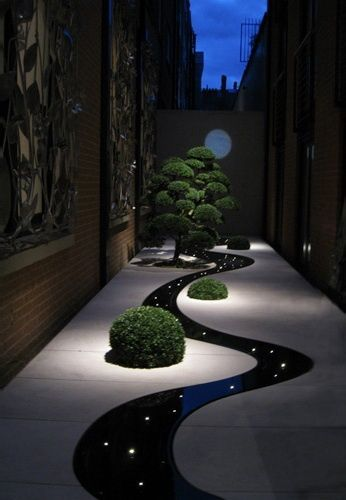 Night yard landscaping with outdoor lights 25 beautiful lighting night yard landscaping with outdoor lights 25 beautiful lighting ideas workwithnaturefo