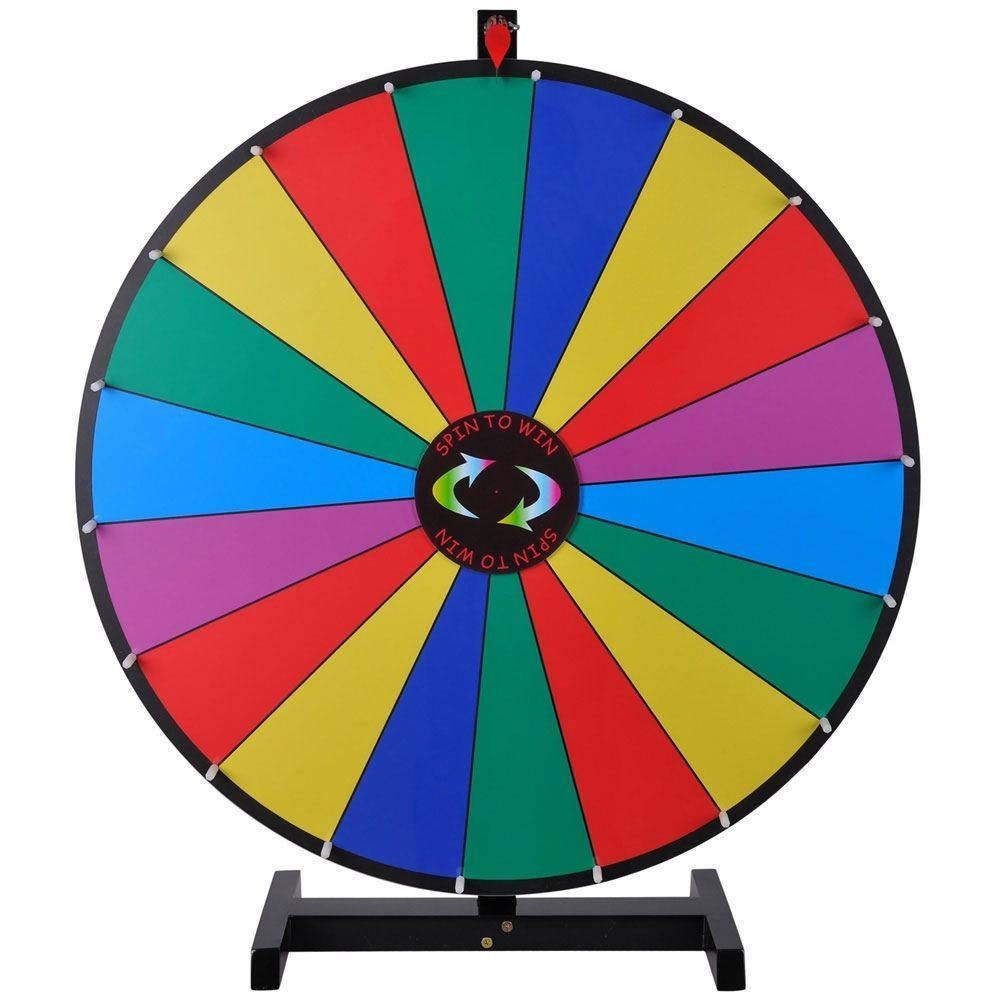 30 color prize wheel of fortune trade show tabletop spin game editable business industrial. Black Bedroom Furniture Sets. Home Design Ideas
