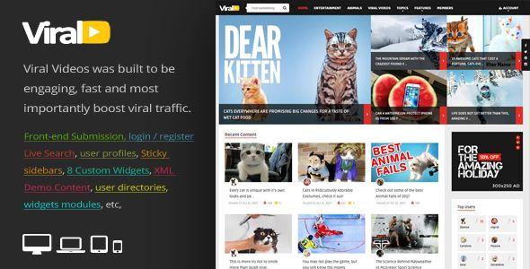 ViralVideo - Responsive Magazine WordPress Theme | Wordpress ...