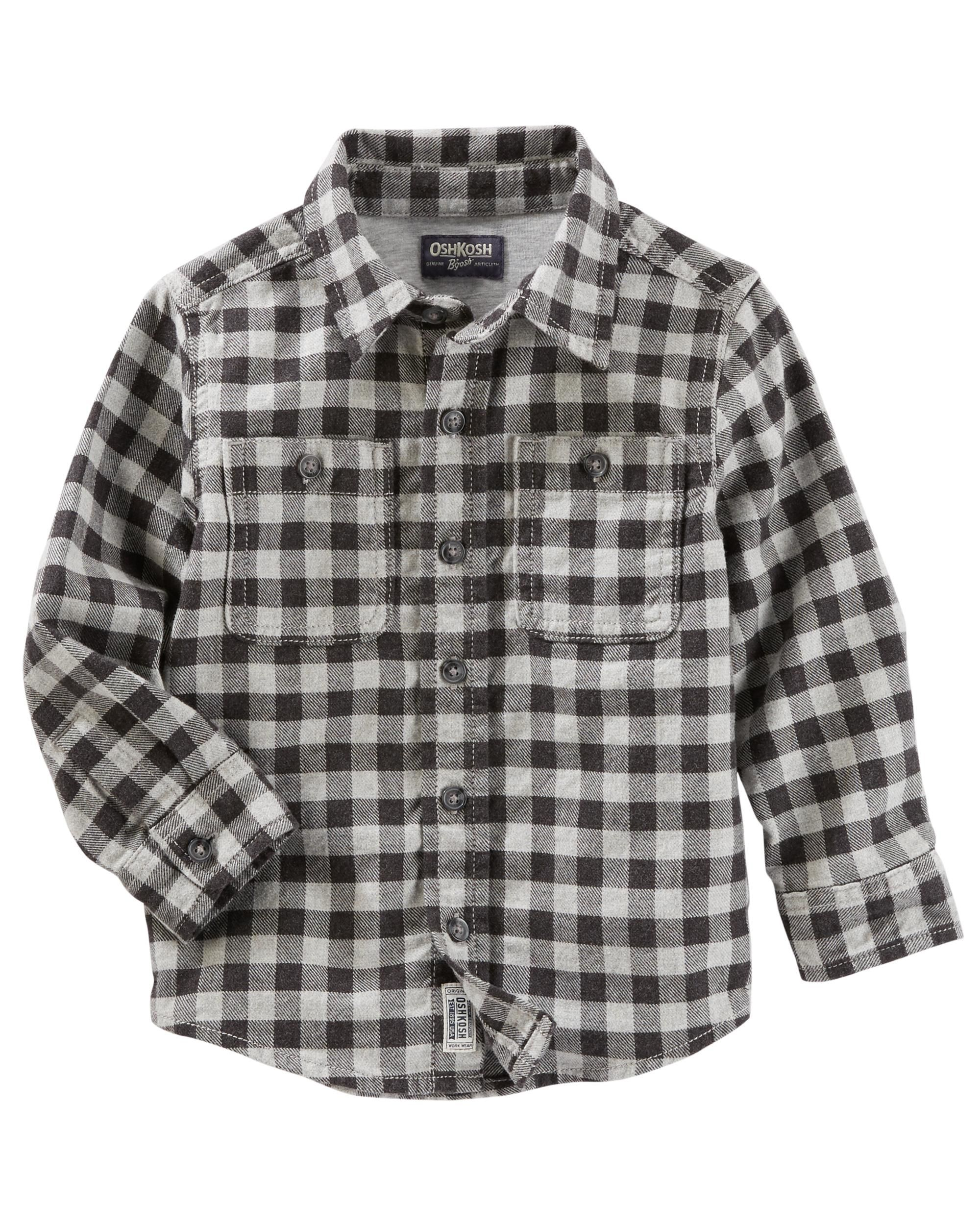 03be2c0ed53d Button-Front Plaid Shirt