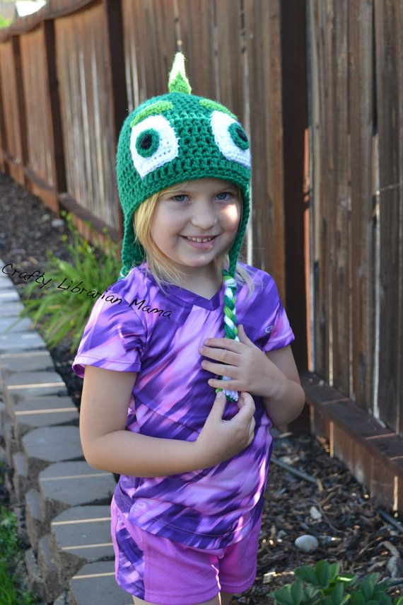This is a PJ Mask inspired Gekko crochet hat. If you have children in your life that are five and under, you may have heard about these