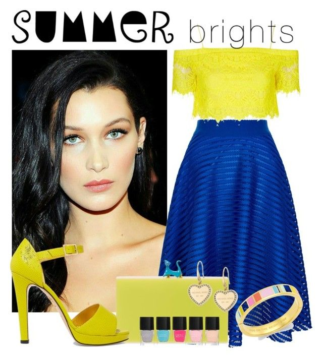 """Summer Brights"" by isror ❤ liked on Polyvore featuring New Look, Charlotte Olympia, Kate Spade, Topshop, Lipsy, Michael Kors and summerbrights"