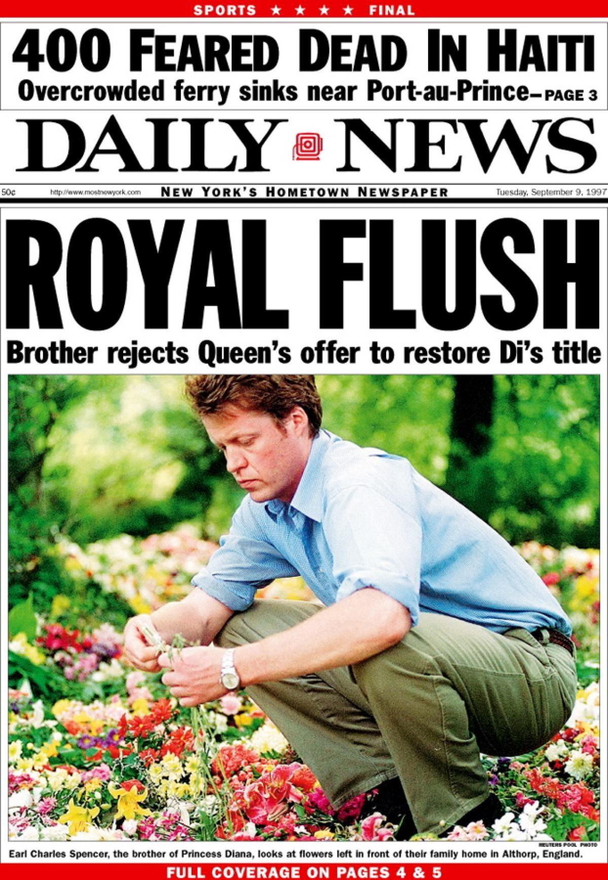 Princess Diana S Death Makes Headlines Photos Princess Diana S