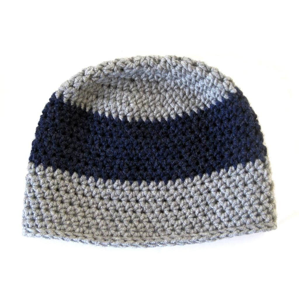 Chunky Stripe Hat: free crochet pattern | She\'s Got the Notion. Hdc ...