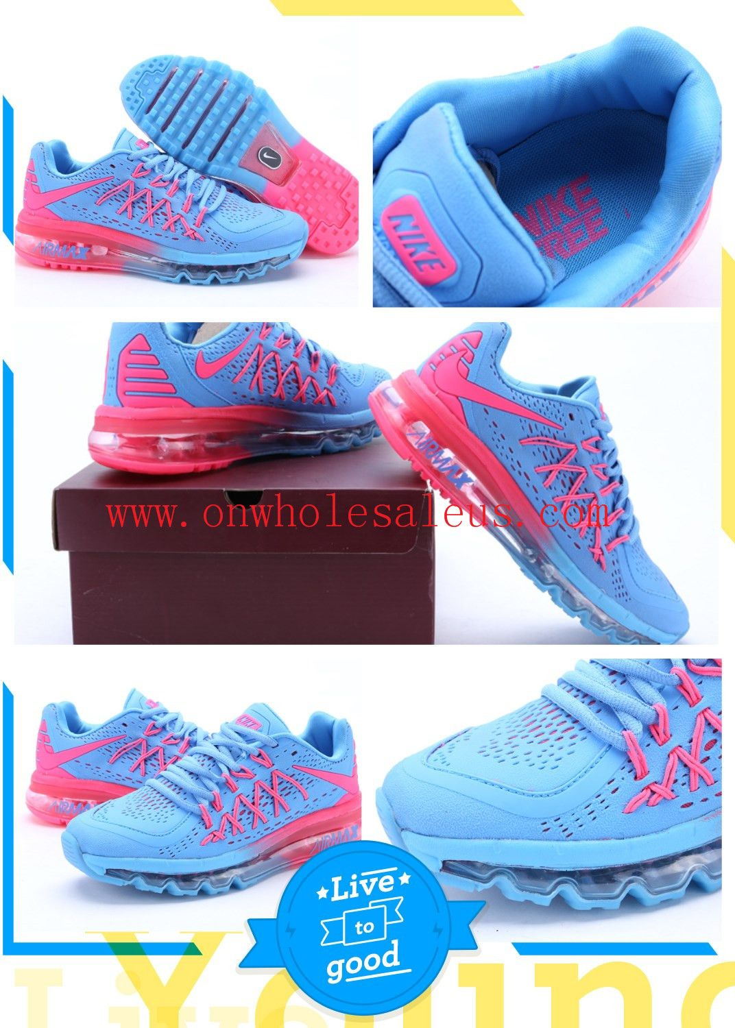 outlet store 537b2 3710a Wholesale Cheap Nike Air Max 2015 Womens sneakers online shopping size  5.5-8.5  72 online