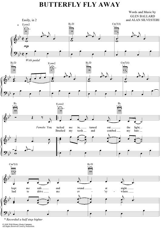 Butterfly Fly Away | Music Sheets | Pinterest | Sheet music ...