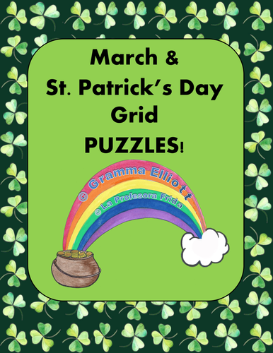 """""""Boggle"""" type puzzles with a St. Patrick's Day theme! On each page there is a 4 x 4 grid for students to find hidden words."""