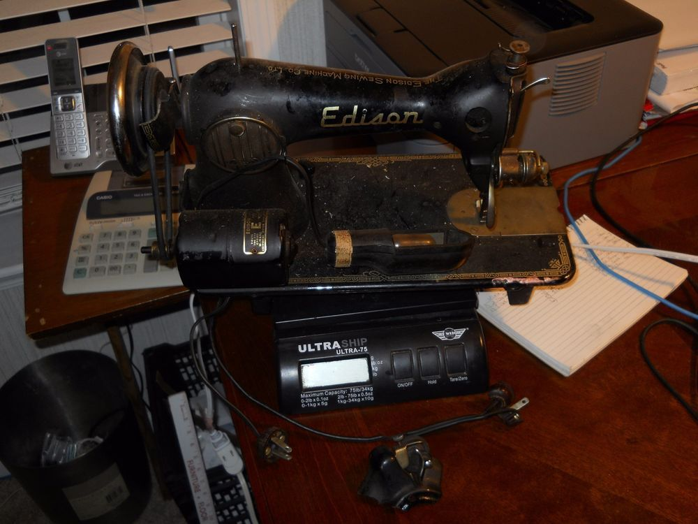 Vintage Edison De Luxe Sewing Machine Made in Japan ...