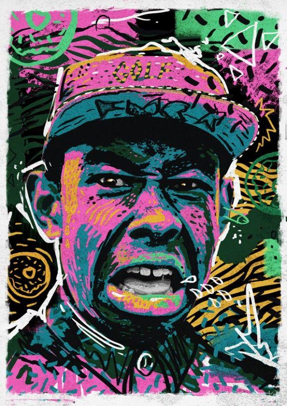 567bd7bbcaadf9 Andy Gellenberg hip hop portraits Tyler the creator
