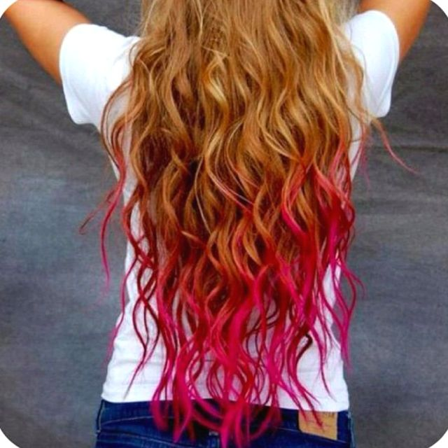 Pink Kool Aid Hair Hair Styles Temporary Hair Color Dip Dye Hair
