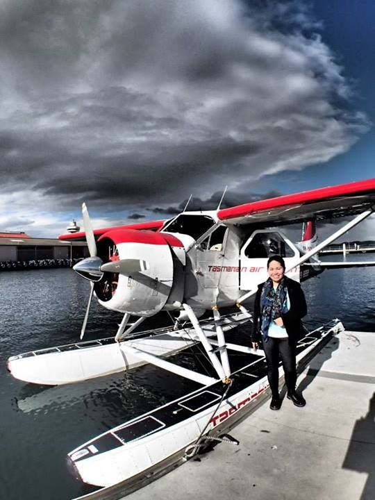 Ride in a seaplane (Hobart, Tasmania; September 2013)