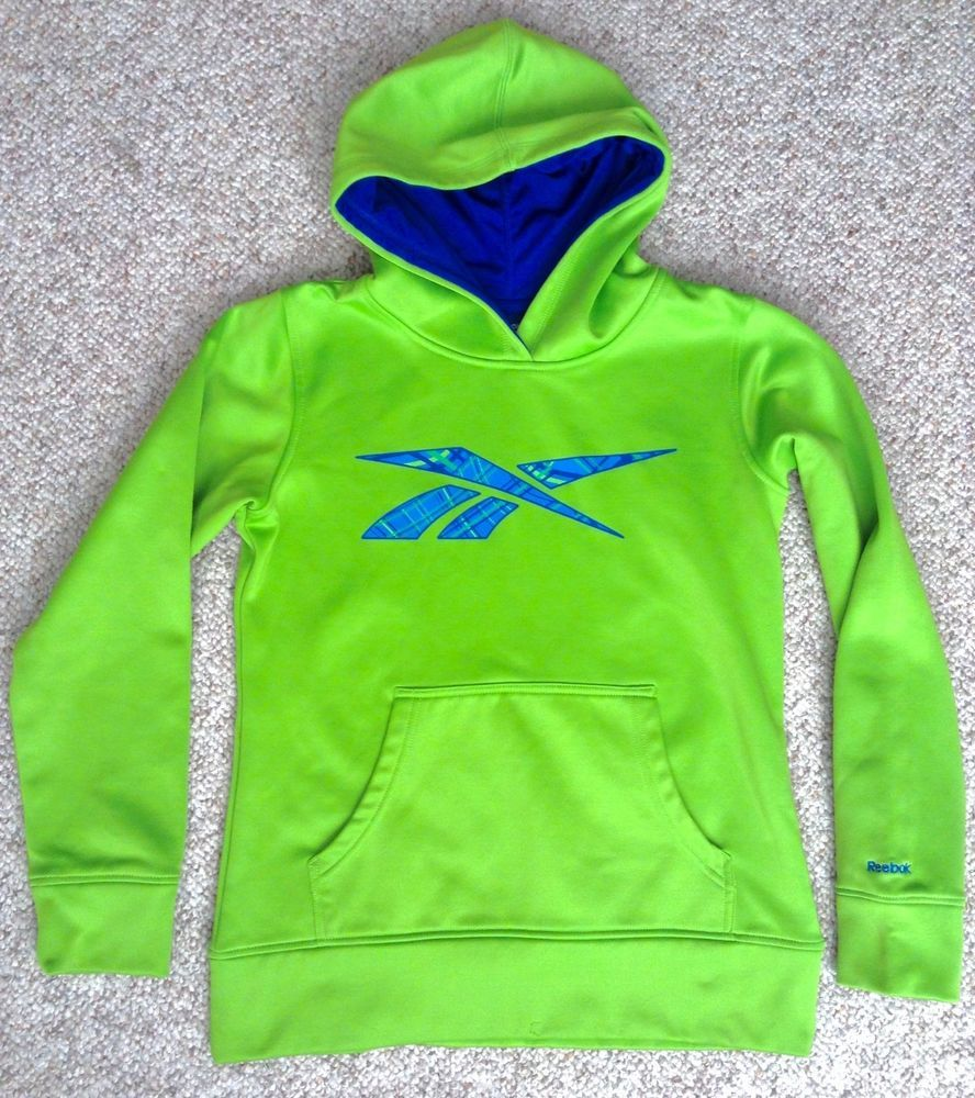 c0a10e992 Youth Lrg 12-14 (Boys Kids) DRY-FIT POLYESTER REEBOK HOODIE Lime ...