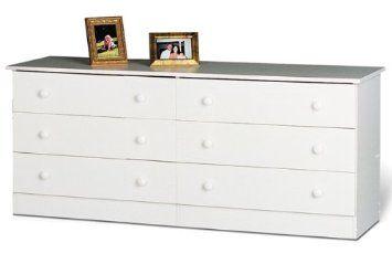 Best Amazon Com Prepac White Six Drawer Double Dresser In 400 x 300
