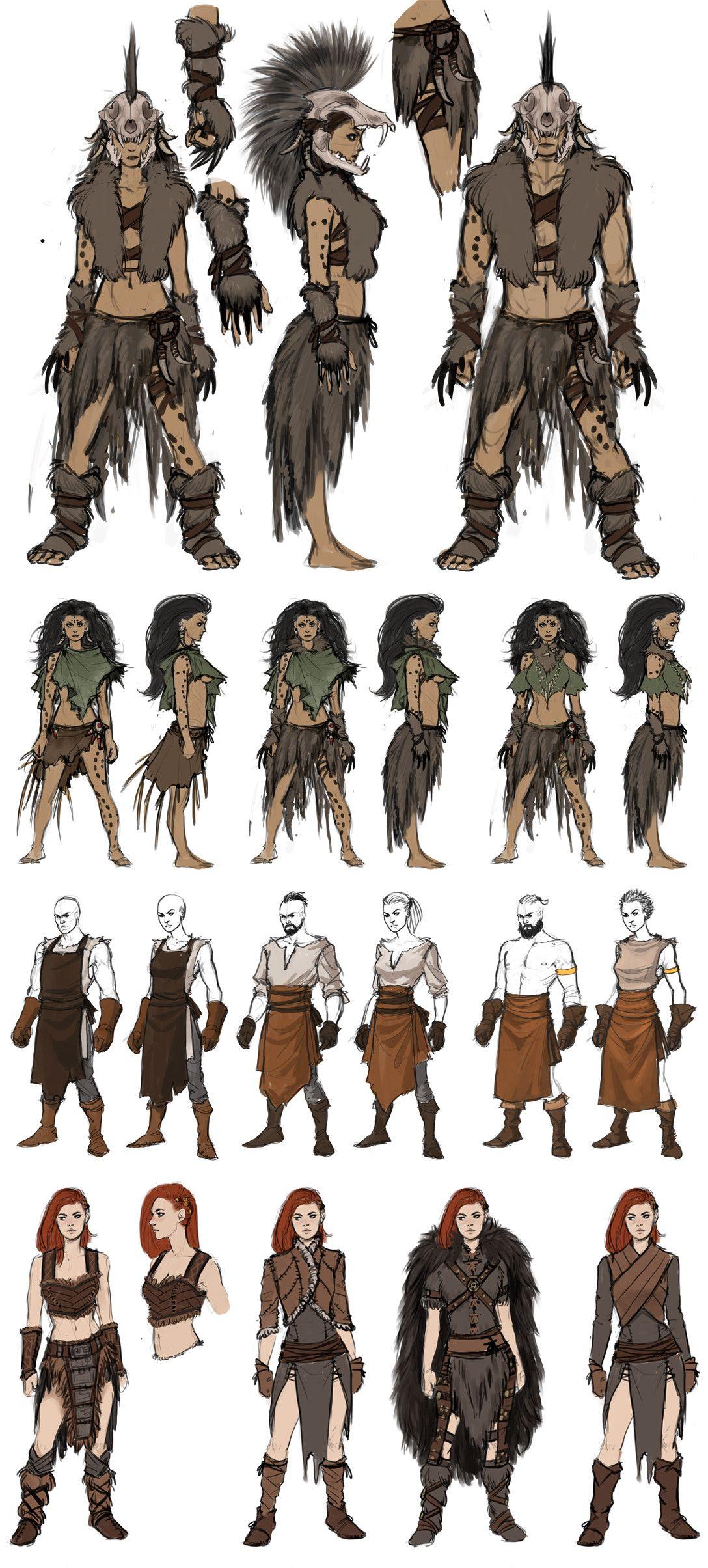 Conan Exiles Costume Concept Art, Jenni