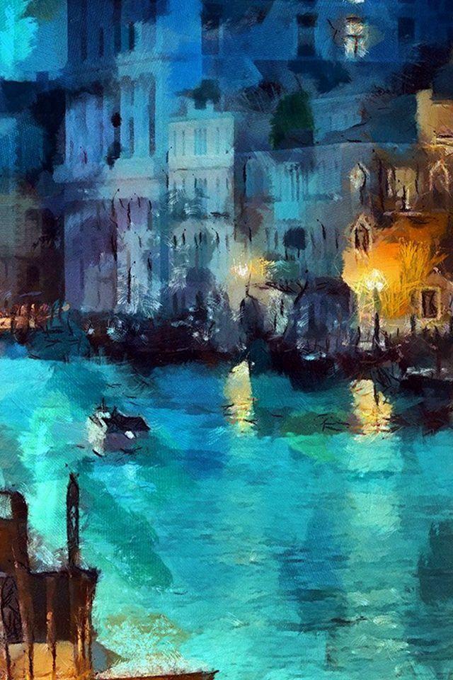 人気83位 夜景 絵画 クラシックアート 壁紙