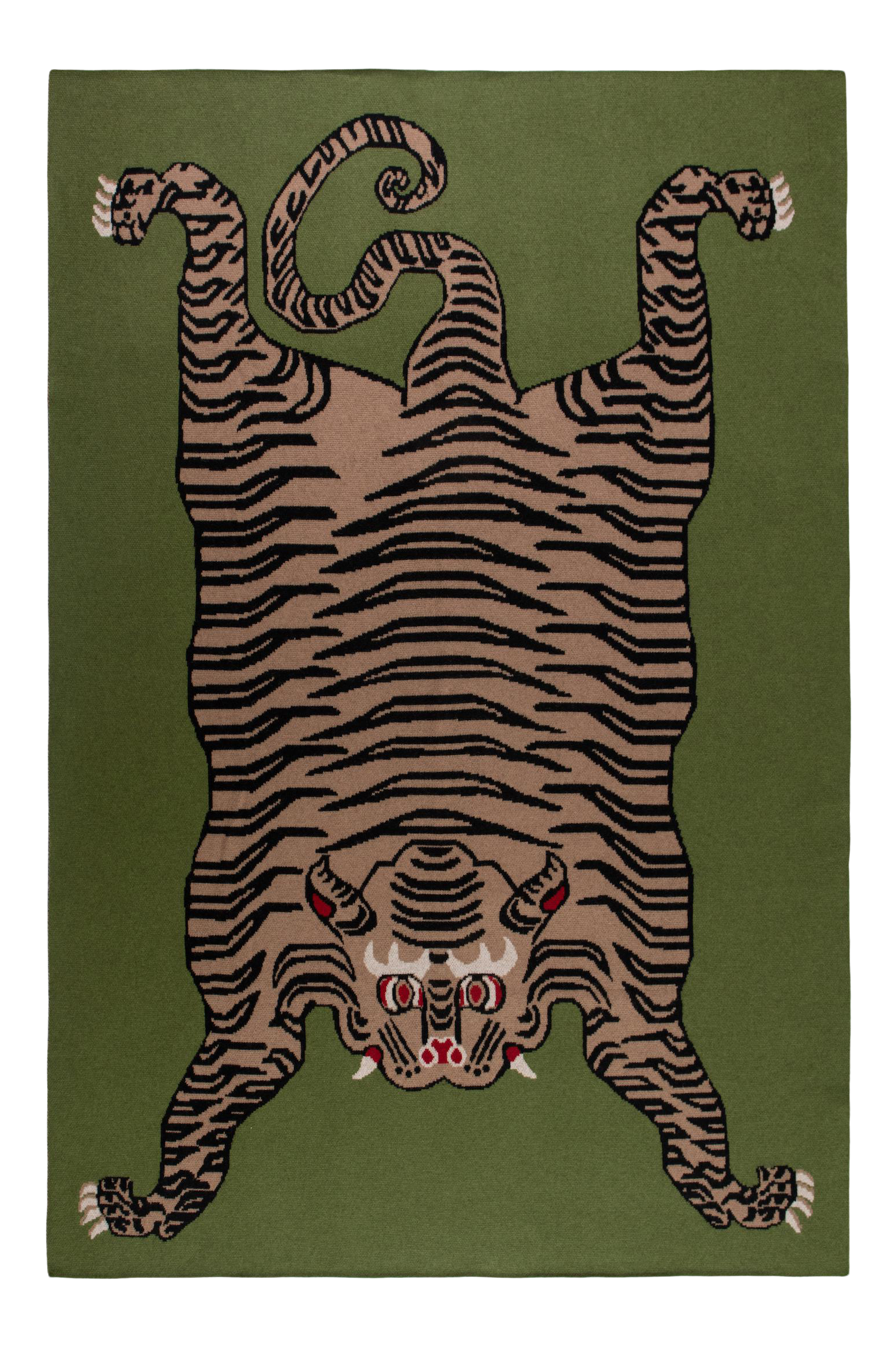 Green Cashmere Tiger Blanket 51 Quot X 71 Quot In 2020 Tiger